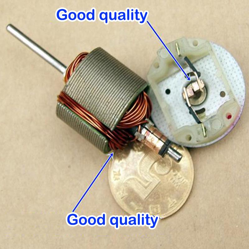Micro 370 Motor 16.5mm Shaft DC 4.2V-12V 50000RPM High Speed Carbon Brush DIY RC