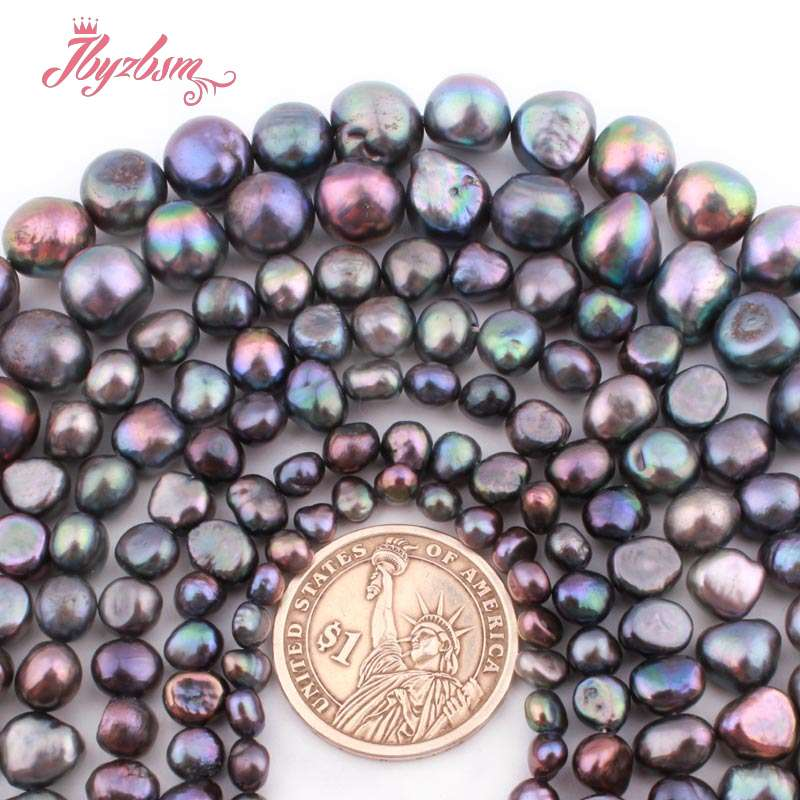 """Jewelry Making Natural Freeform Potato Freshwater Pearl Spacer Beads Strand 14/"""""""