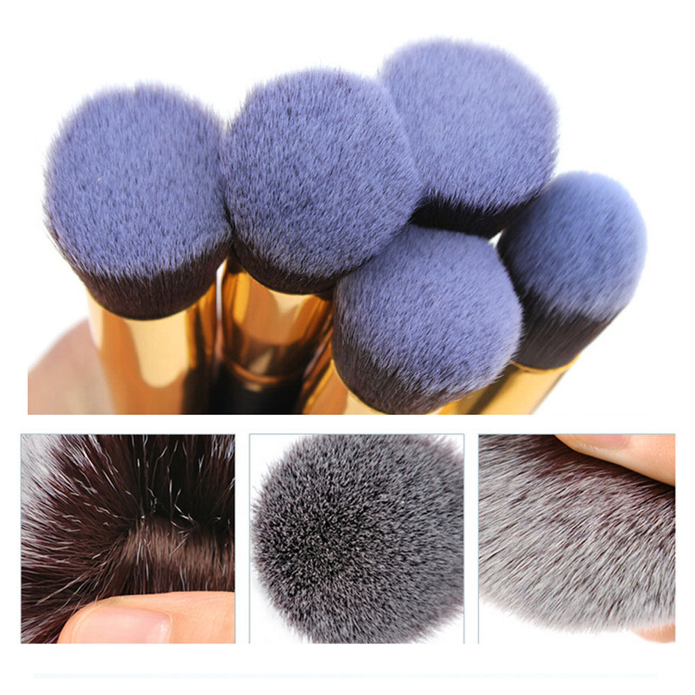 10tlg profi kosmetikpinsel make up pinselset schminkpinsel gesichtspinsel ebay. Black Bedroom Furniture Sets. Home Design Ideas