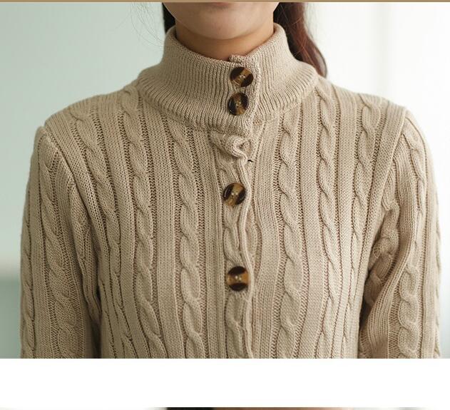 HOT-KOREAN-WOMEN-039-S-WINTER-SHOW-THIN-THICKEN-LONG-SWEATER-BLOUSE-CARDIGAN-COTTON