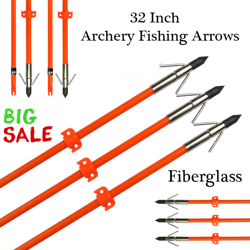 Details about  /32Inch Bowfishing Fiberglass and  Chaos Arrow with Hunting Shooting 6Pcs