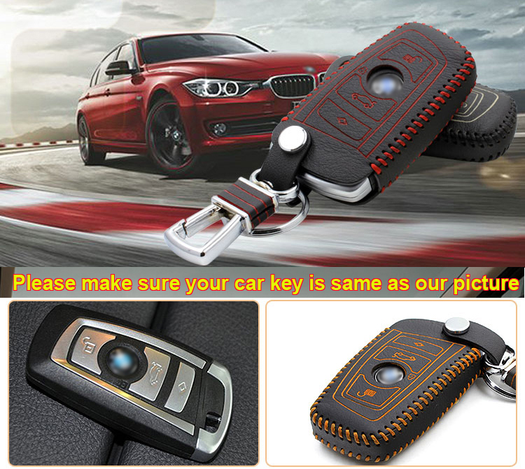 For Bmw 5 Series 3 Buttons Smart Remote Key Bag Case Fob