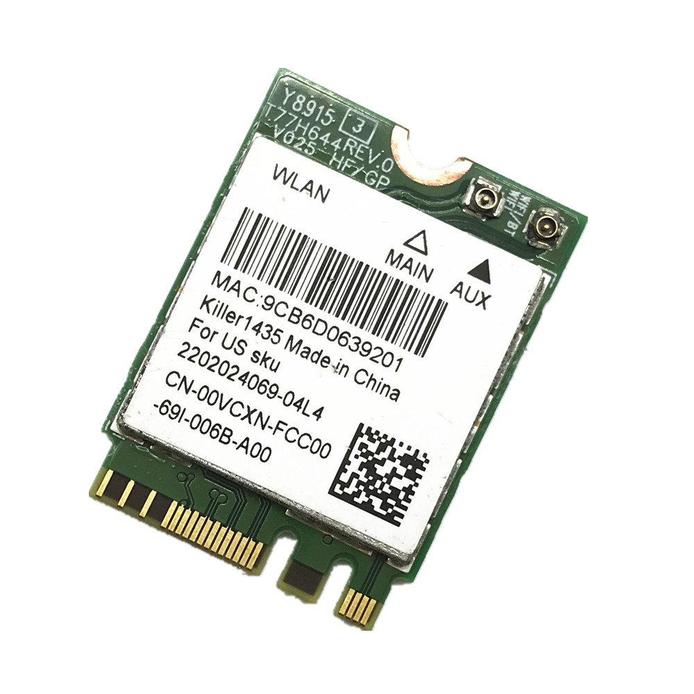 Details about Killer 1435 Atheros QCNFA344A 802 11AC 876Mbps Bluetooth 4 1  M 2 NGFF Card
