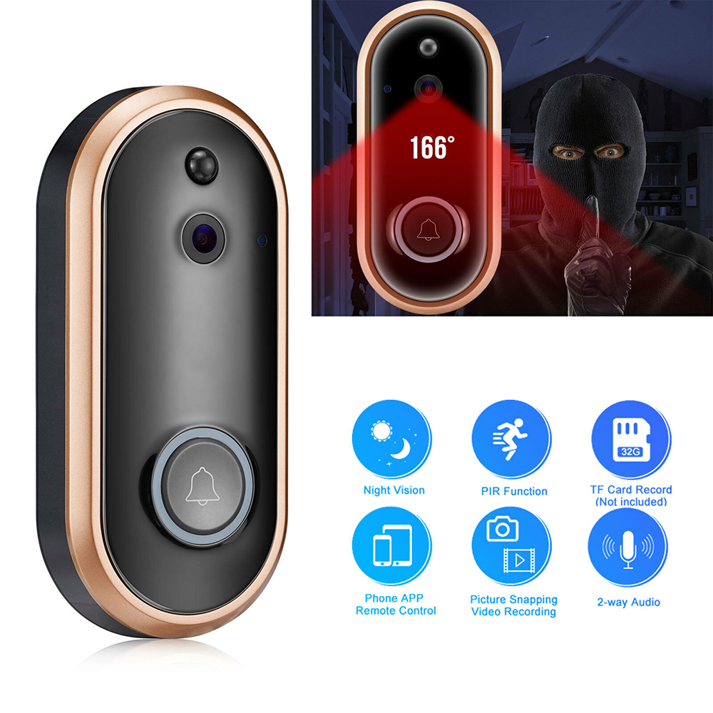 720P/1080p WiFi Smart Video DoorBell Camera Chime Wireless Phone