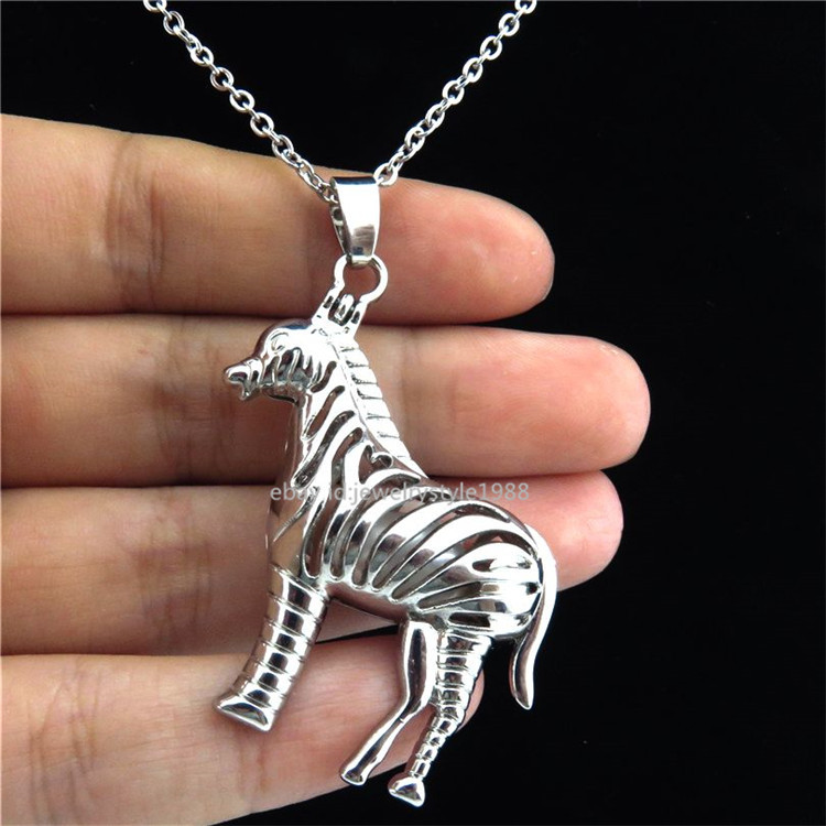 Fashion Jewellery K311 Silver Alloy 35mm Dolphin Animal Oyster Beads Cage Locket Pendant 10X/set