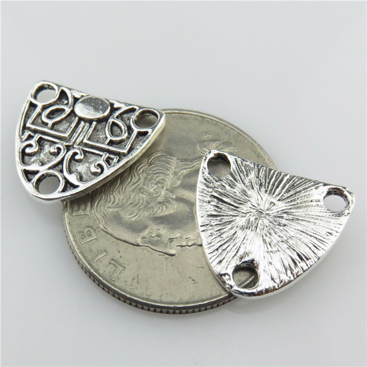 12378 7Pcs Antique Silver Alloy Little Pine Nut Pinus Connector Charms Jewelry