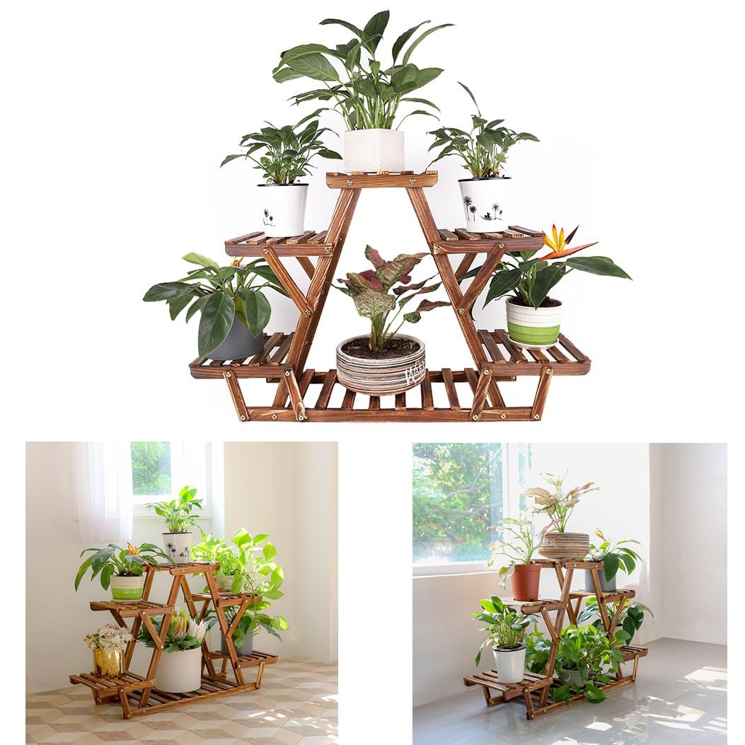 Details zu Holz Blumentreppe Blumenständer Mini Pflanzen Regal Treppe  Balkon Wohnzimmer DE