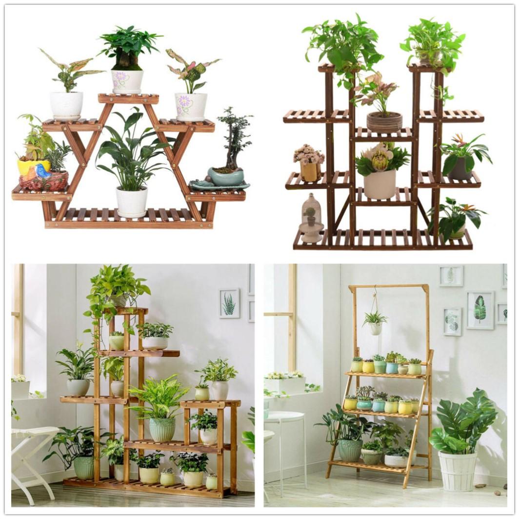 Blumen Regal Treppe Leiter Stander Pflanzen Holz Bambus Fur Garten