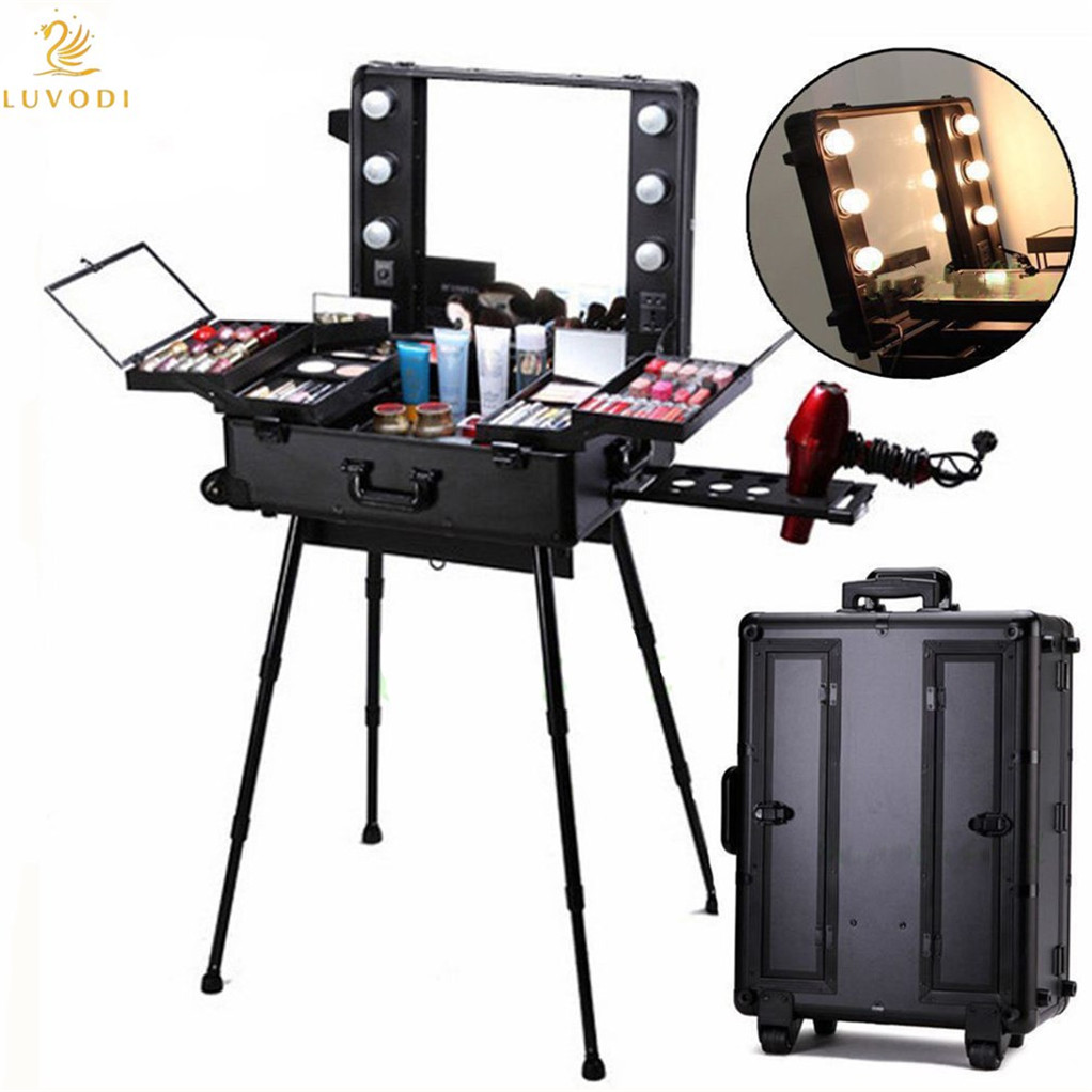 Mobile Trolley Cosmetic Box Beautician Makeup Case ...