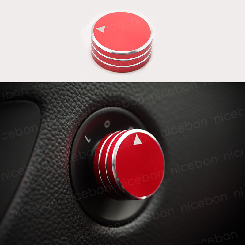 RED Rearview Mirrors Switch Decoration Ring Cover For