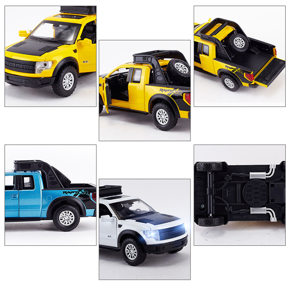 1:32 Ford Raptor F-150 Car Model Diecast Toy Vehicle Collection Gift ...