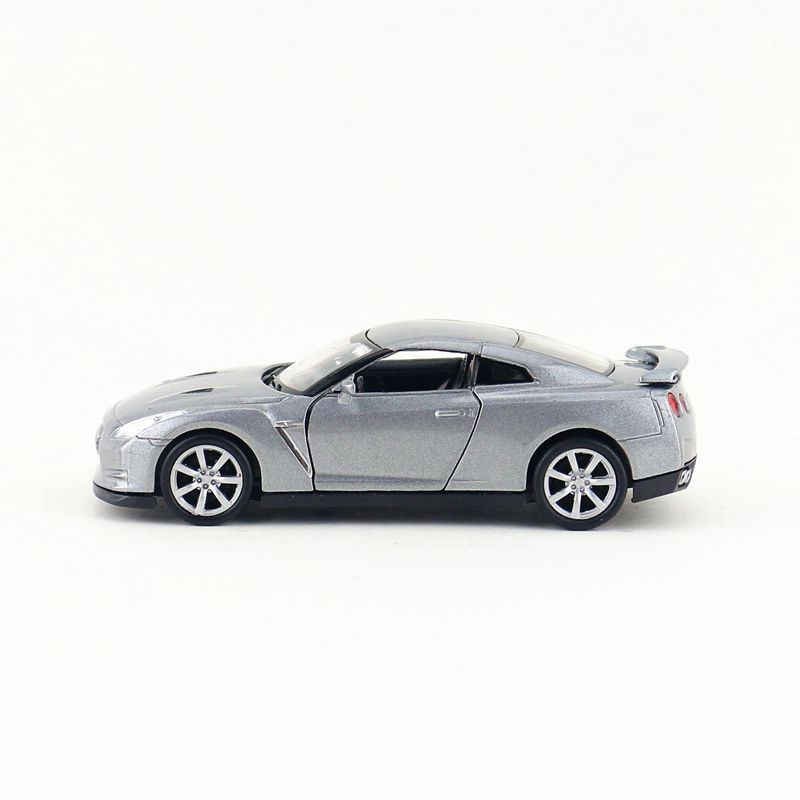 1:36 Nissan GTR R35 Car Model Metal Diecast Toy Vehicle Collection Gray  Gift Kid