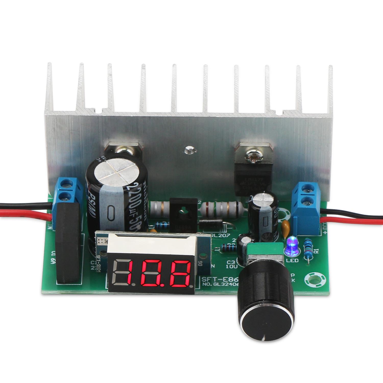 Lm317 Digital Display Adjustable Power Supply Dc 12532v Voltage Circuit Module 3v 35v Ac 28v To Regulator Driver