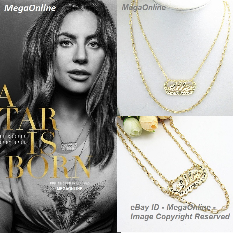 6e9b9a5ad3e34 Details about Movie A Star Is Born Lady GAGA Ally Pendant Necklace  SuperStar Props Cosplay NEW