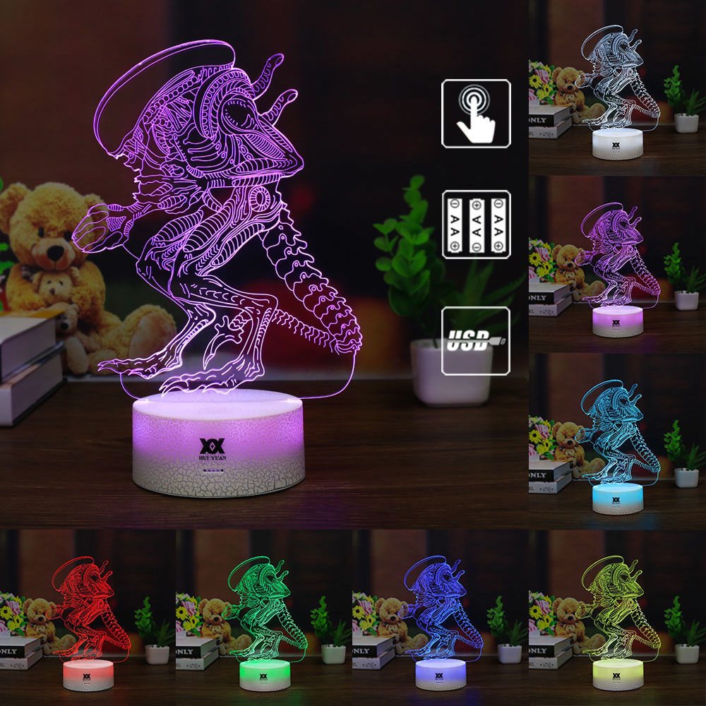 3D LED Lilo Stitch Tischlampe Leselampe Nachtlicht Nachttischlampe Geschenk RGB