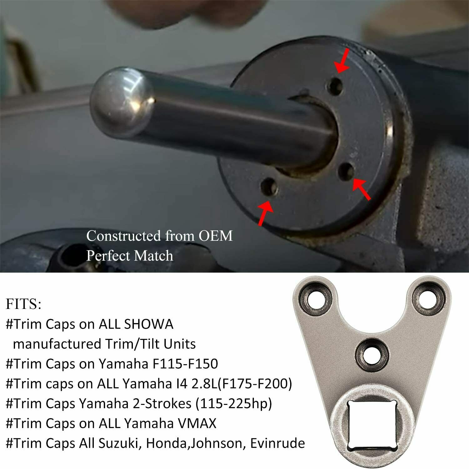 Suzuki Evinrude Trim Seals on Hydraulic Cylinders Johnson Honda Outboards Remove Trim//Tilt Caps Marine Outboard Trim//Tilt Pin Wrench AMT0006-32mm x 4mm for Yamaha
