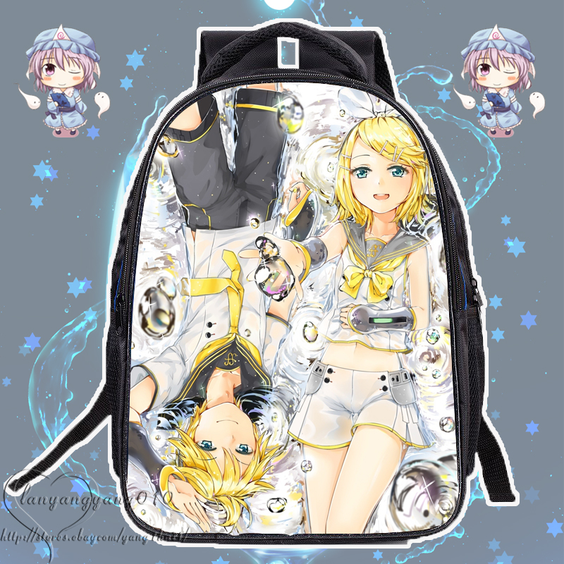 Vocaloid Kagamine Len Child Tears Toy Leather Passport Holder Cover Case Travel One Pocket