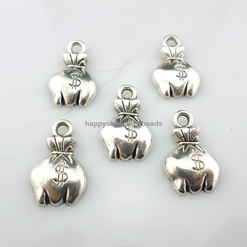Elephant Charm//Pendant Tibetan Antique Silver 11mm  20 Charms Accessory Crafts