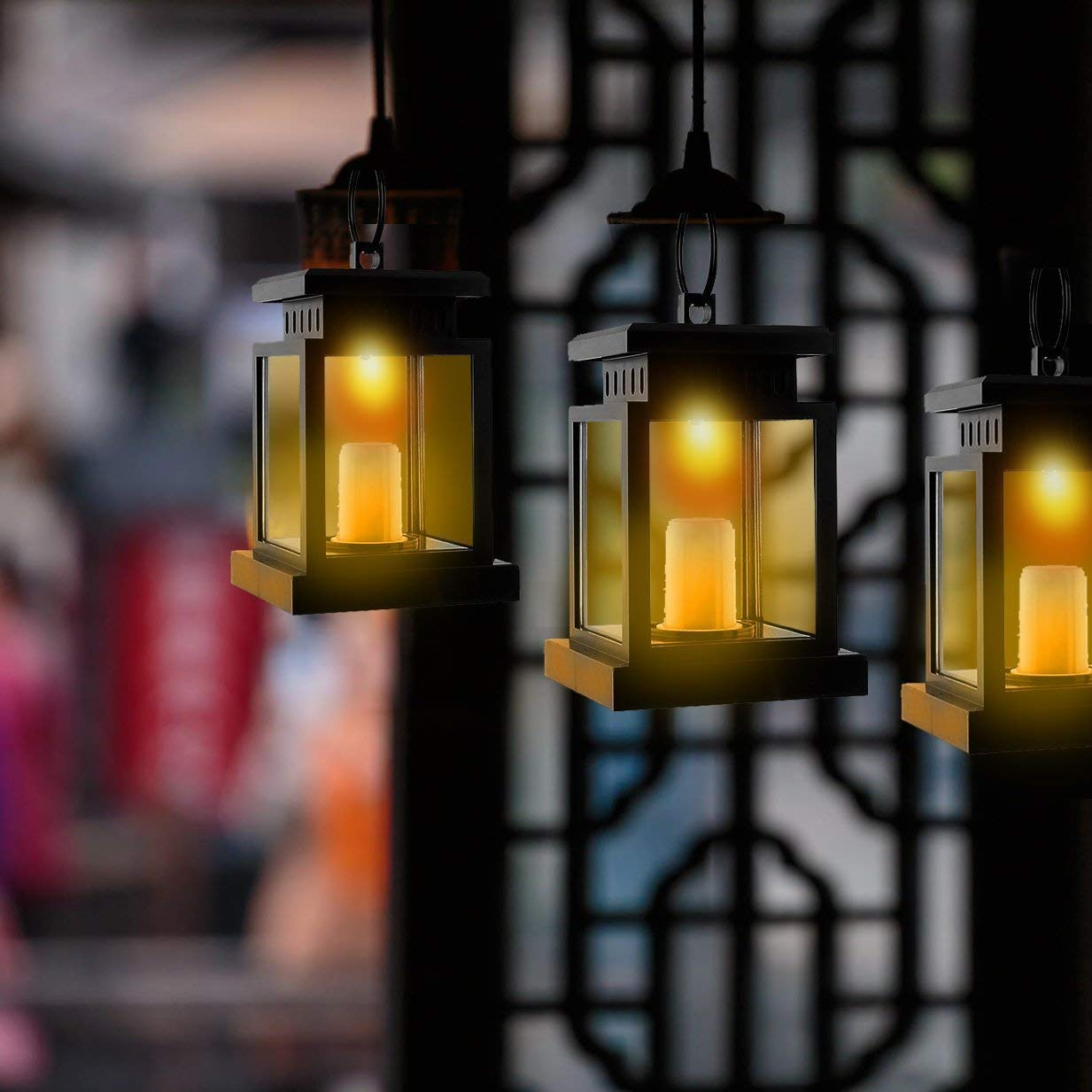 6 U00d7solar Lantern Hanging Solar Light Outdoor Decorative Led