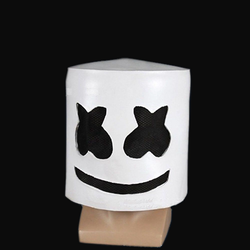 Details About Marshmallow Dj Mask Full Head Helmet Halloween Costume Cos Party Bar Music Props