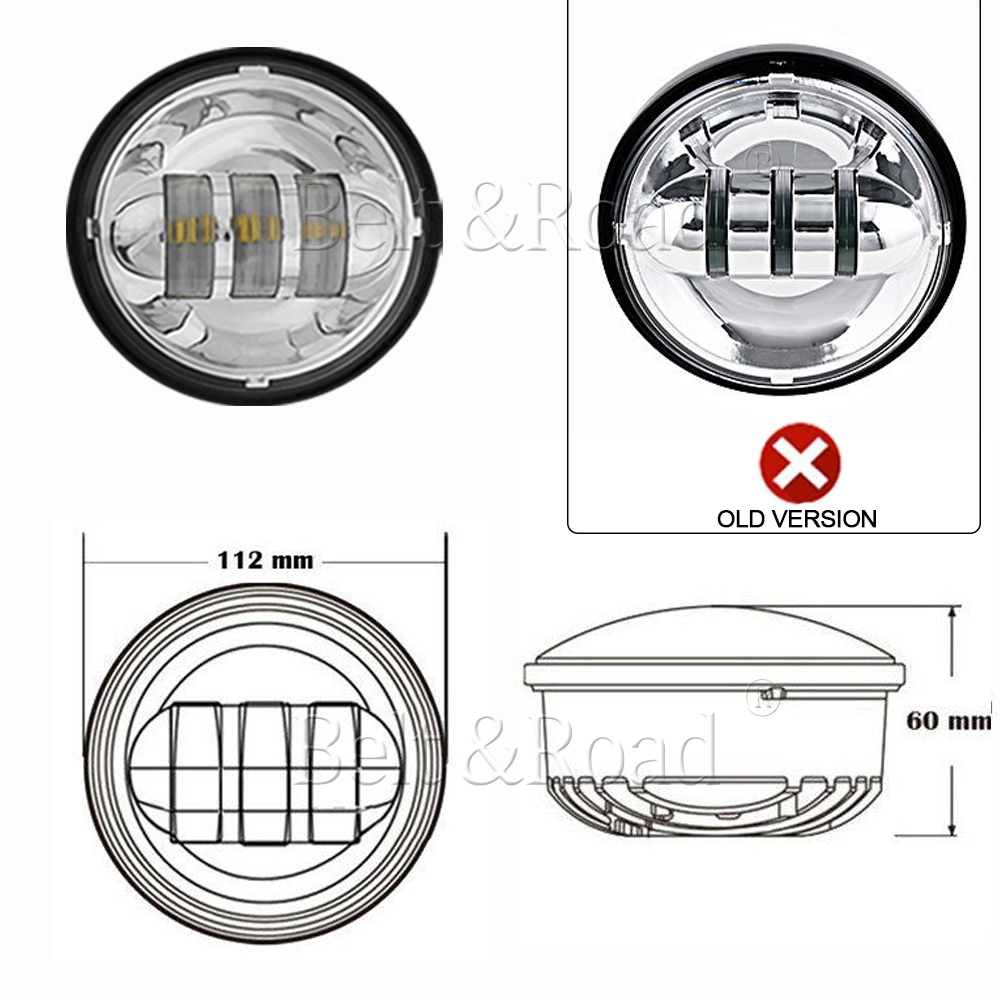 7 u0026quot  led round headlight projector  u0026 halo passing lights for harley touring 699986161258