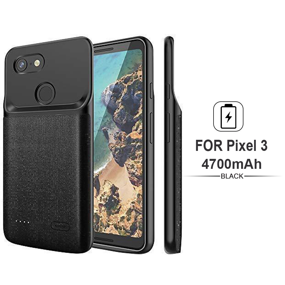 huge selection of 8b545 825b7 Details about 4700mAh External Backup Power Bank Battery Charger Cover Case  For Google Pixel 3