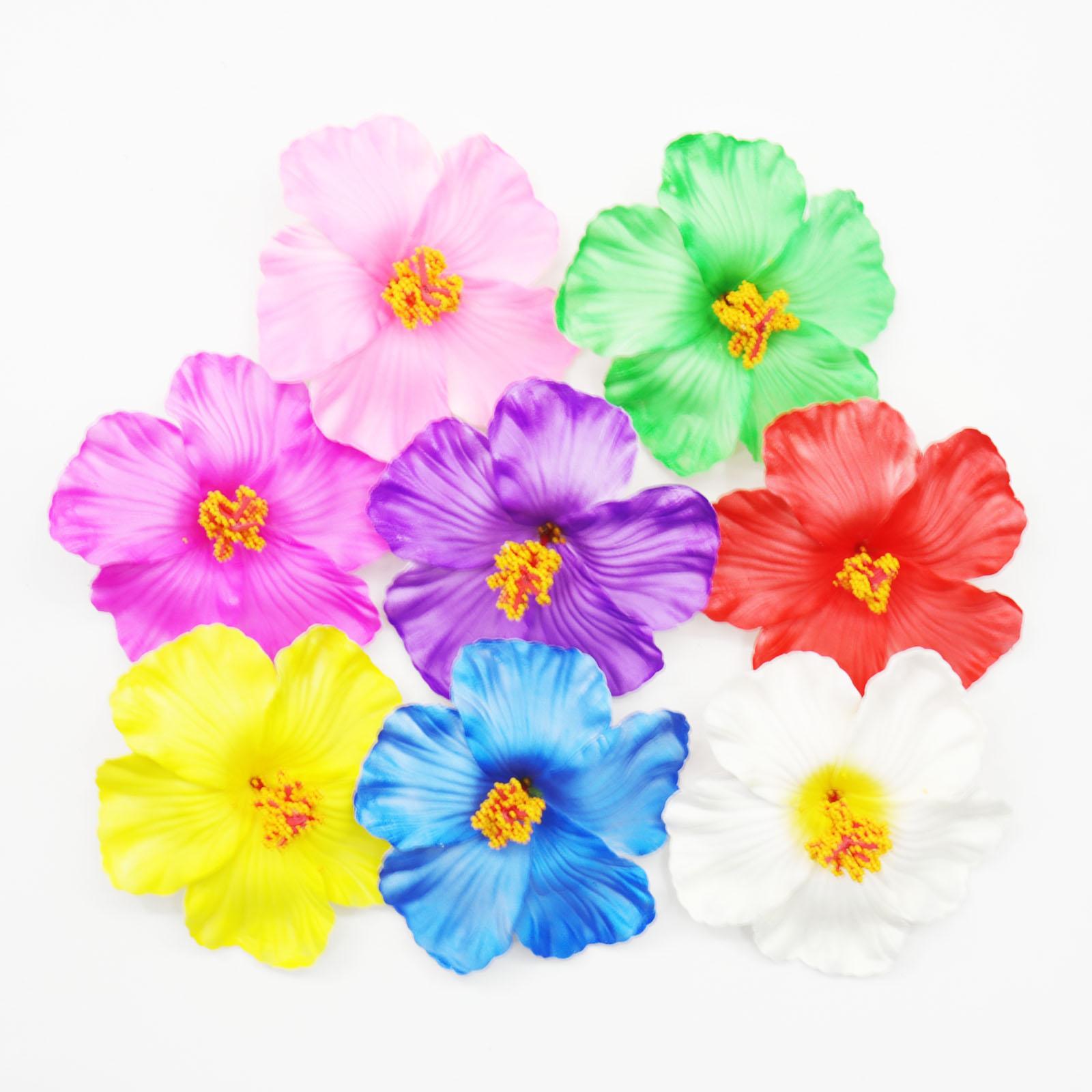 10-100pc Artificial Hibiscus Flowers Heads Hawiian Plumeria Flower Wedding Decor