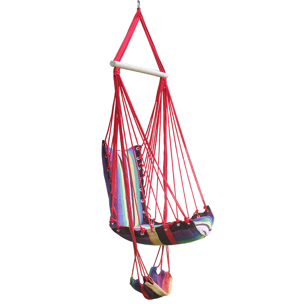 Portable Hanging Rope Hammock Chair Swing Seat for Any ...