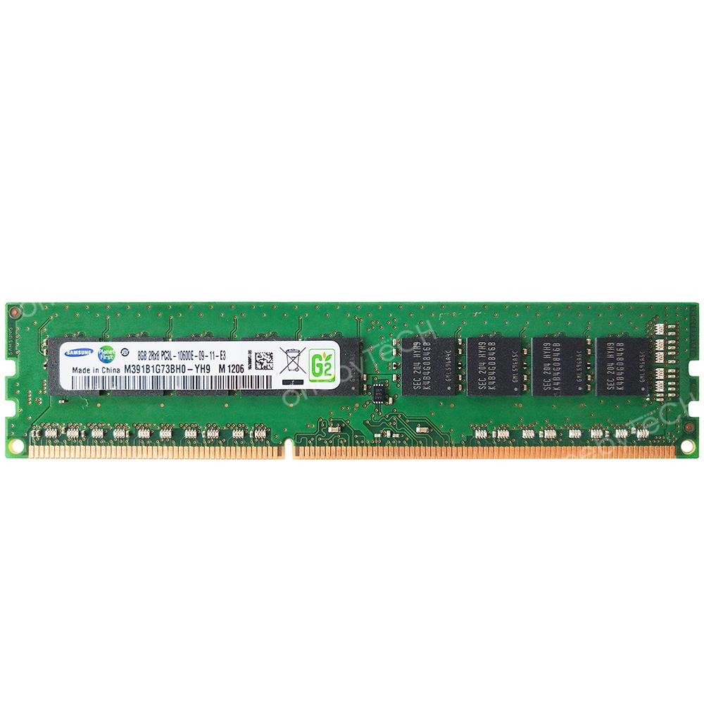 Samsung 2x8GB PC3L-10600E DDR3L-1333 1.35V 240 PIN Un-buffered ECC UDIMM Memory