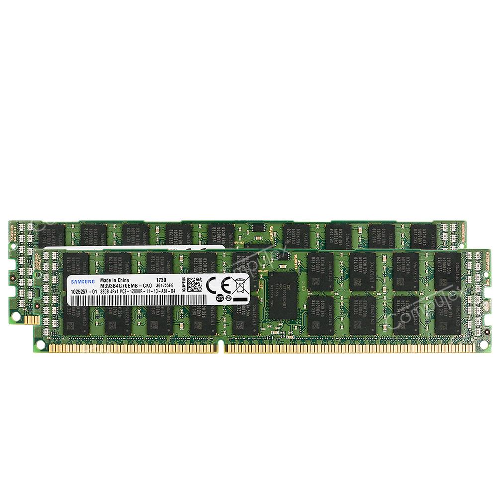 PC3-12800R 1600MHz DDR3 ECC Reg Memory Supermicro X9DRE-LN4F Server 8x8GB 64GB