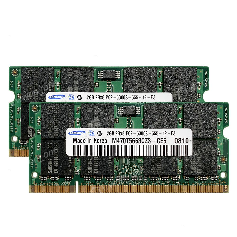 PC2-5300S DDR2-667 Memory Fr MacBook LATE 2006 MB700LL//A Apple A1181 4GB 2x2GB