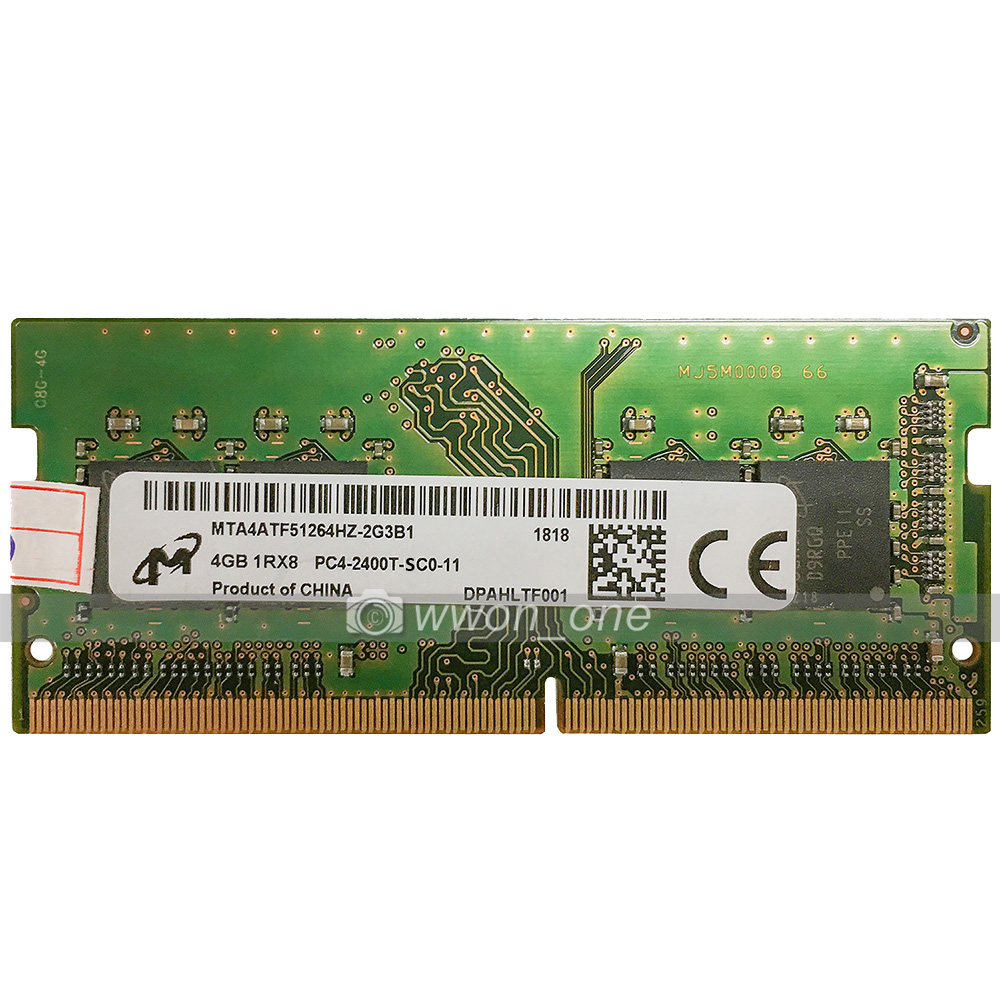 MICRON 4GB DDR4 PC4-2400T 260-PIN NON-ECC SO-DIMM MEMORY FOR PC OR MAC PULL OUT