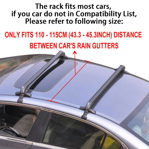 dac3838c98c4 Details about Universal Car Top Luggage Roof Rack Cross Bar Carrier  Adjustable Window Frame