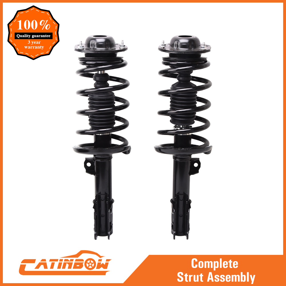Front Pair Complete Strut /& Coil Spring Assemblies for 2007-2009 Saturn Aura
