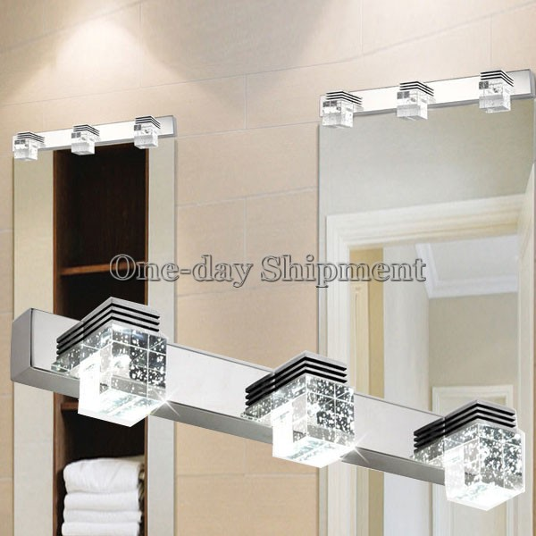 Bathroom Lighting Ebay modern led crystal wall lamp bathroom lighting mirror light 3 x 3w