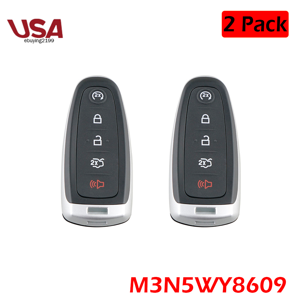 2 For Ford Explorer Smart Prox Remote Key Fob 2011 2012