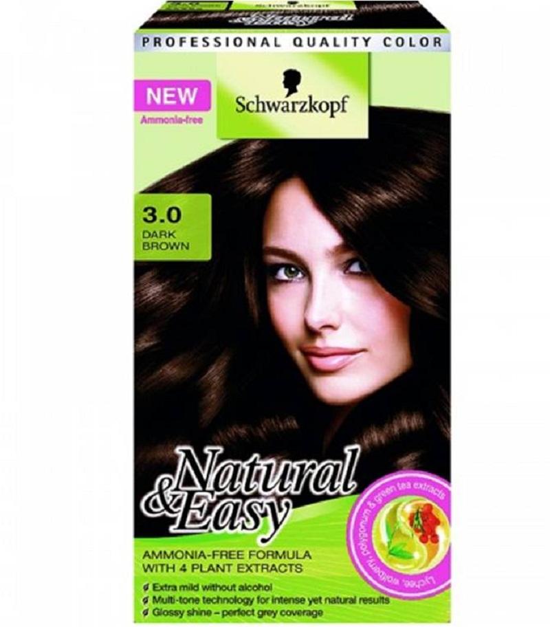 Schwarzkopf Natural Easy Women Brown Hair Colour Kit No Ammonia No