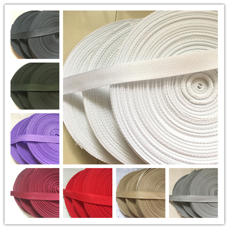 Cotton Acrylic 10mm Webbing *10 Colours /& 5 Lengths*