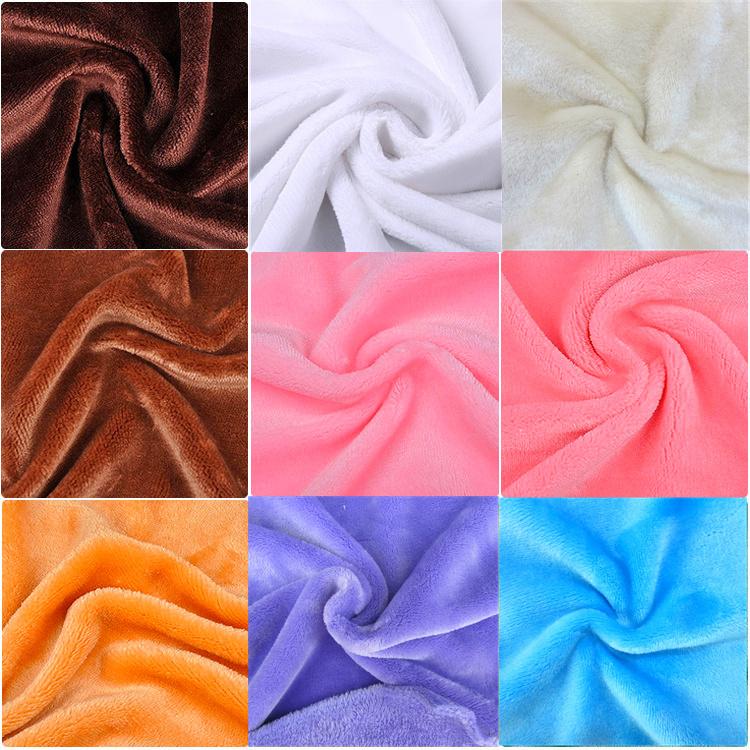 Soft double sided flannel fleece fabric plush fluffy for Spaceship fleece fabric