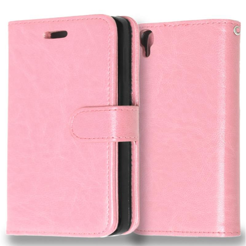 Luxury Leather Flip Case Wallet Magnetic Cover For Alcatel One Touch Idol 3 4 7