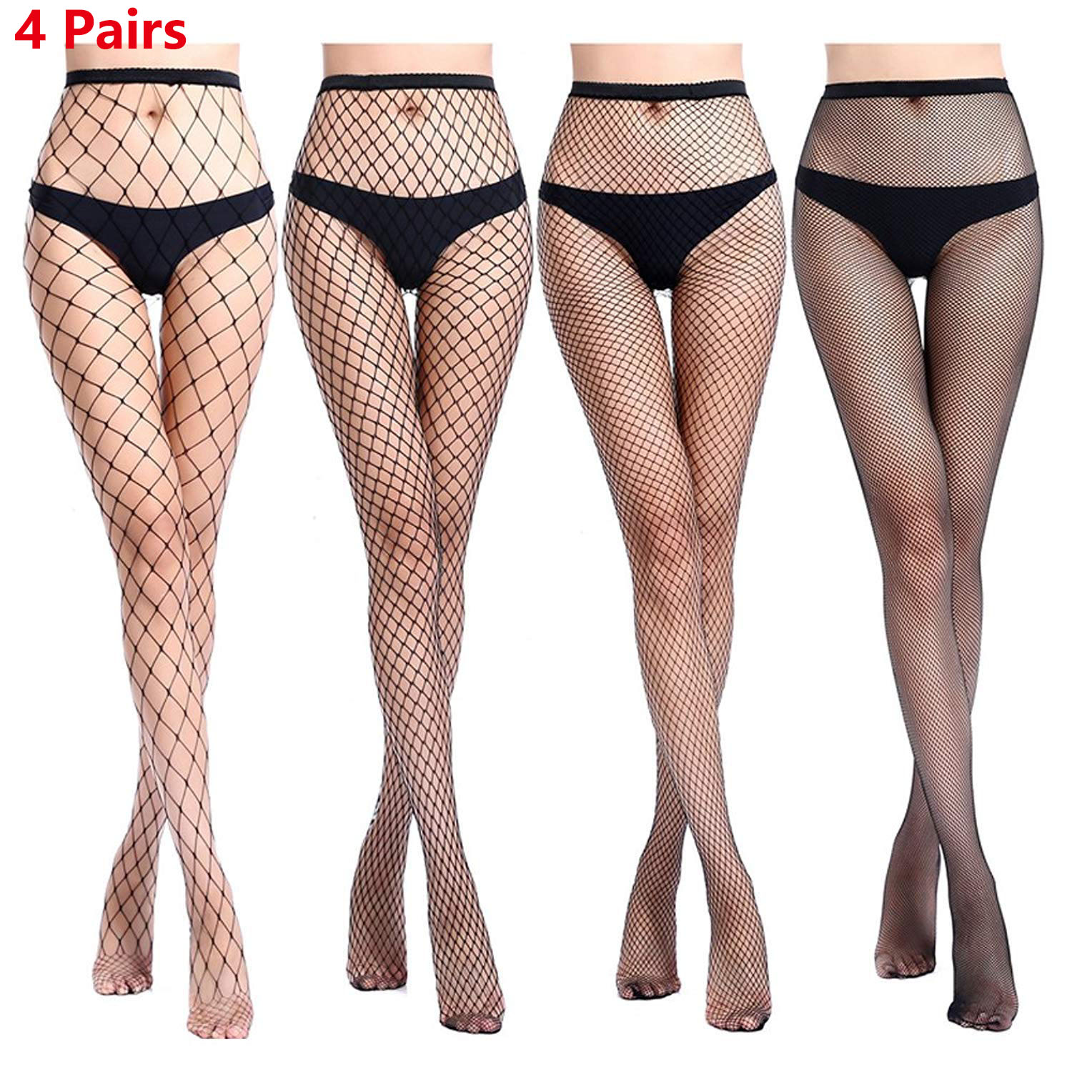 de18e7116f971 Women's Fishnet Stocking Sexy Cross Tights Seamless Nylon Large Mesh Hollow  Out