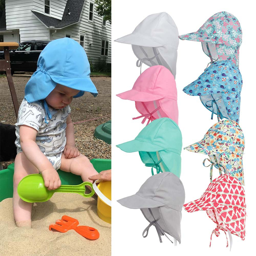 17a77c4f Details about Baby Boys Girl Summer Legionnaire Sun Hat Neck Flap Hat UV  Protection Cotton Cap