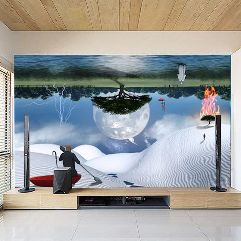 Details about 3D Self-adhesive Surreal painting TV Background Wallpaper  Wall Murals Decor
