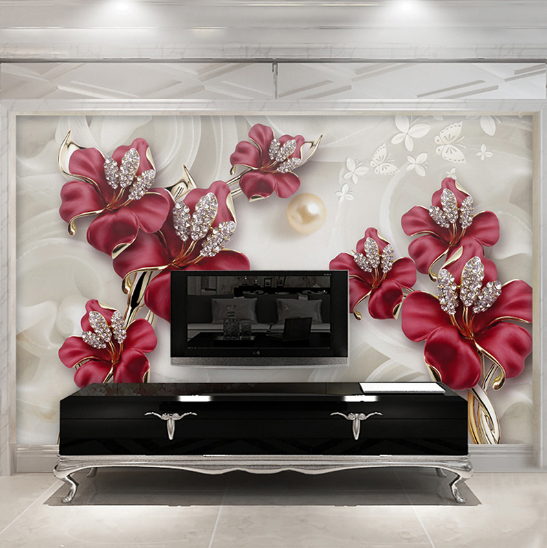 Details About 3D Photo Wallpaper Beautiful Jewelry Flower Bedroom Painting  Wall Murals Decor