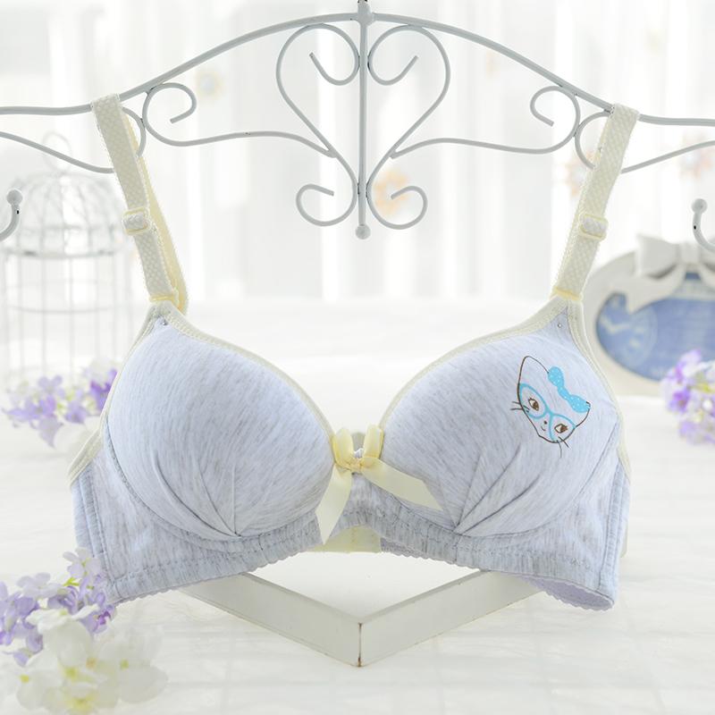New!!! 3/4 Cup Womens Thin Padded Wireless Cotton Bra Underwear  32 34 36 A B