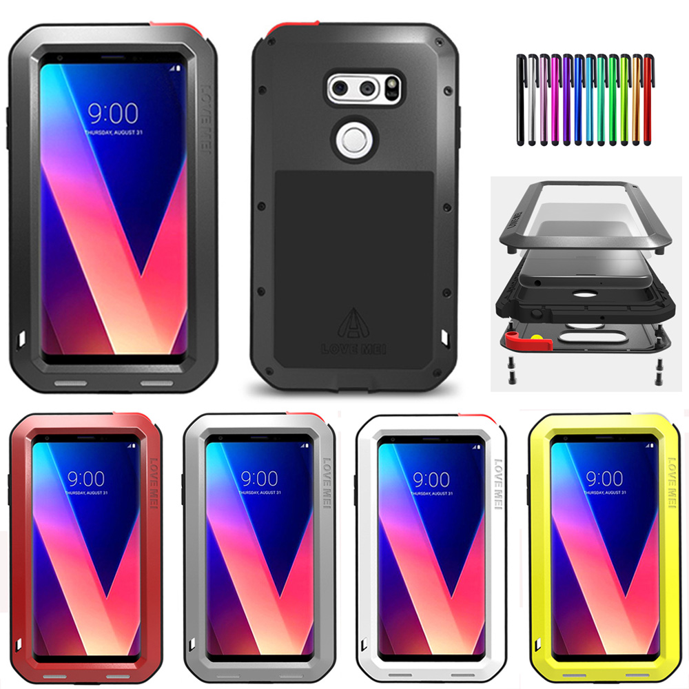 watch c5b50 8ee57 Details about LOVE MEI Aluminum Glass Shockproof Waterproof Case Cover For  LG G6 V30 + V35
