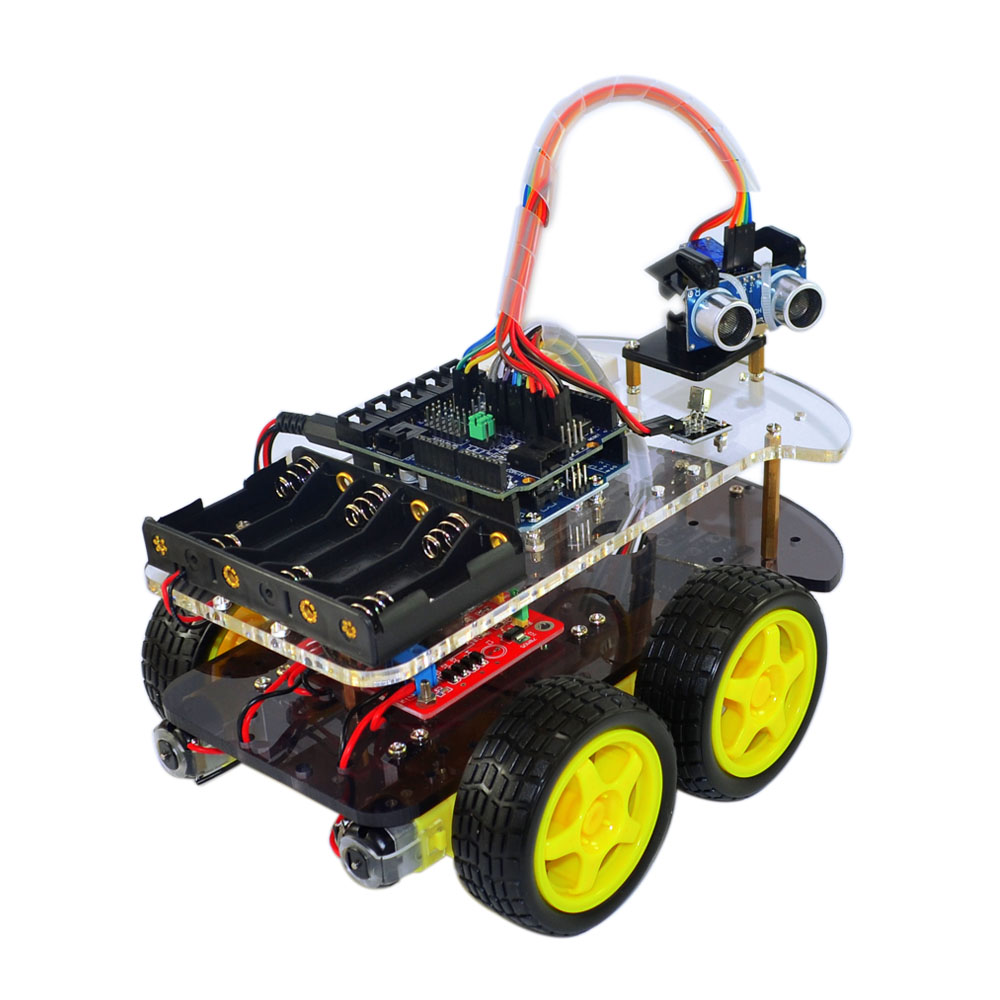 Line track obstacle avoidance anti drop smart car robot