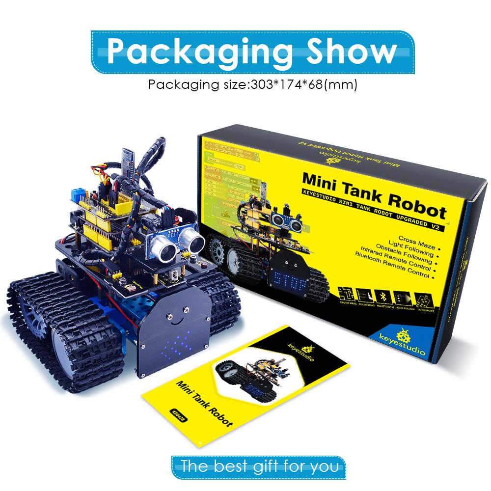 Keyestudio L298P Bluetooth Mini Tank Robot Car V2 DIY Kit For Arduino UNO EU