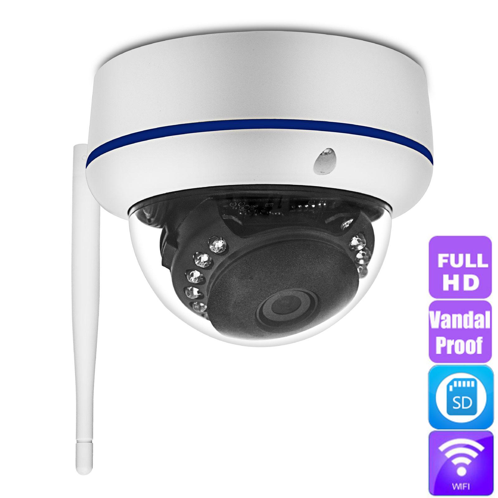 WiFi IP Dome HD 1080P Wireless Network Security CCTV