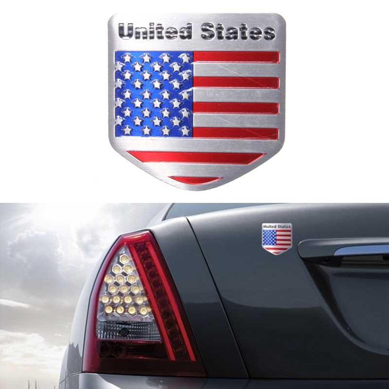 2 X Car F1 Flag Dodge Logo Rear Side Fender Emblem Badge Sticker Decal For Dodge
